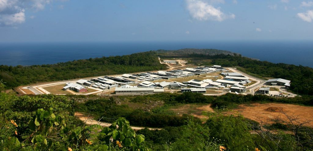 Aerial view of Christmas Island Immigration Detention Centre