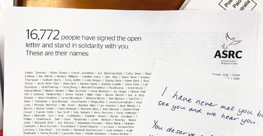 Over 16,770 people sign open letter in show of solidarity