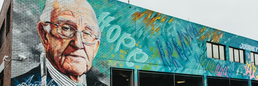 Mural of Malcom Fraser on ASRC building
