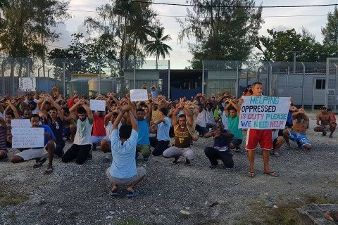 manus island detention protest