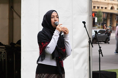 Speaker from the ASRC Voices of Freedom