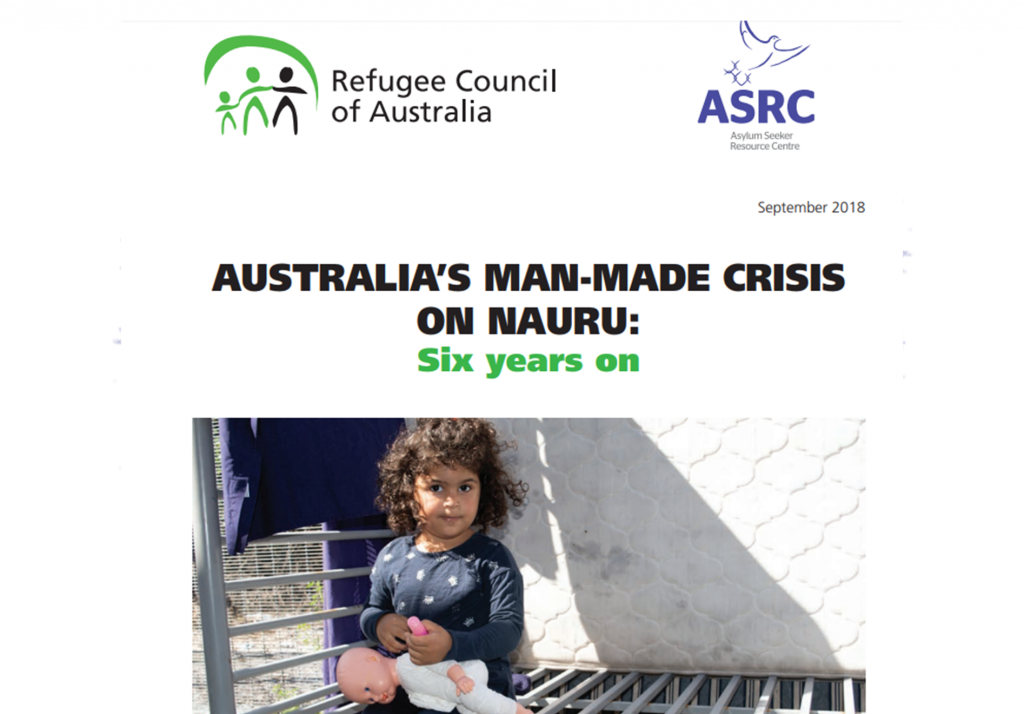 Publication cover: Australia's Man-Made Crisis on Nauru: six years on