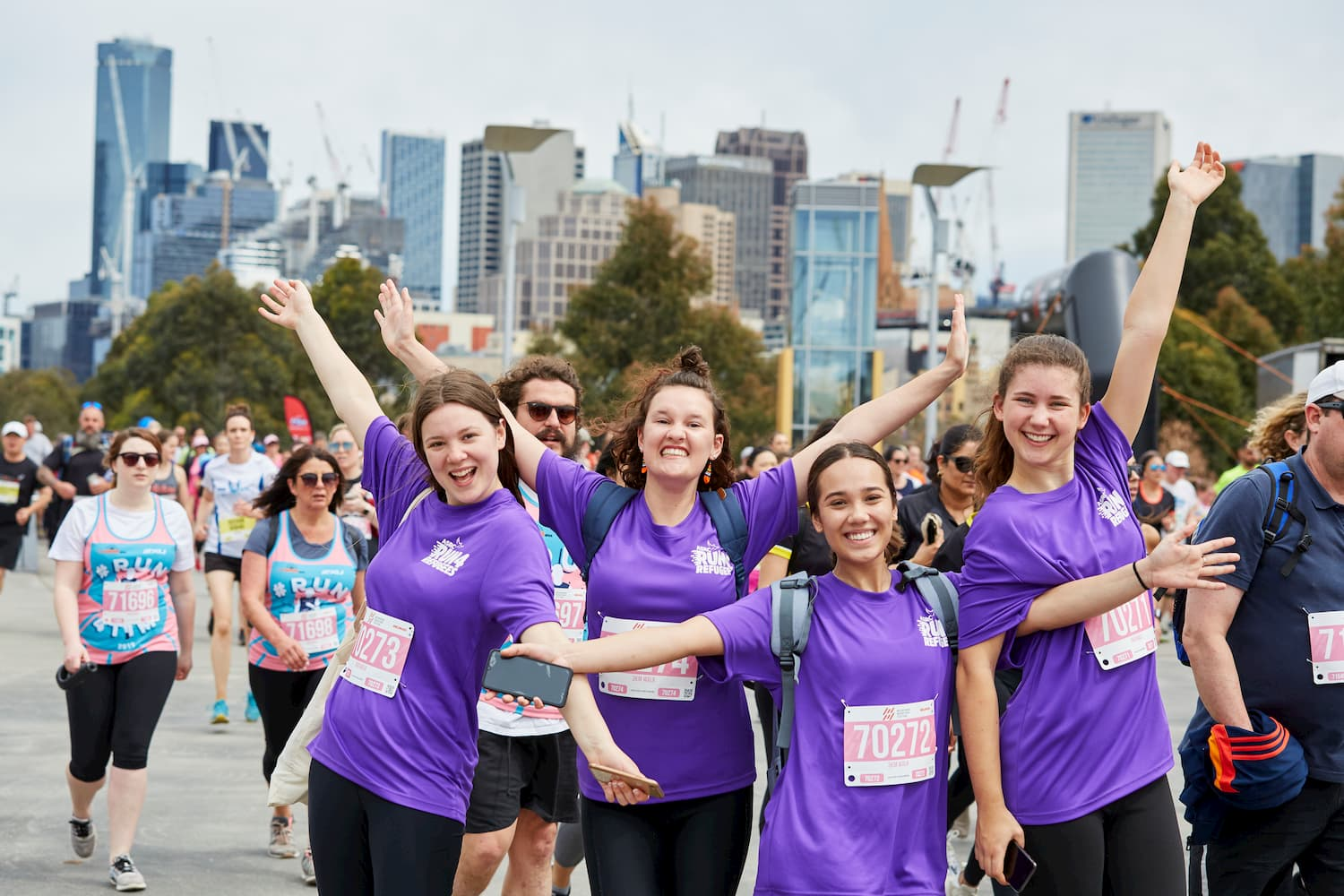 Fundraising team in Run 4 Refugees - Run Melbourne