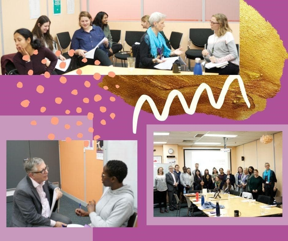 Collage of people attending Breakthrough Conversations