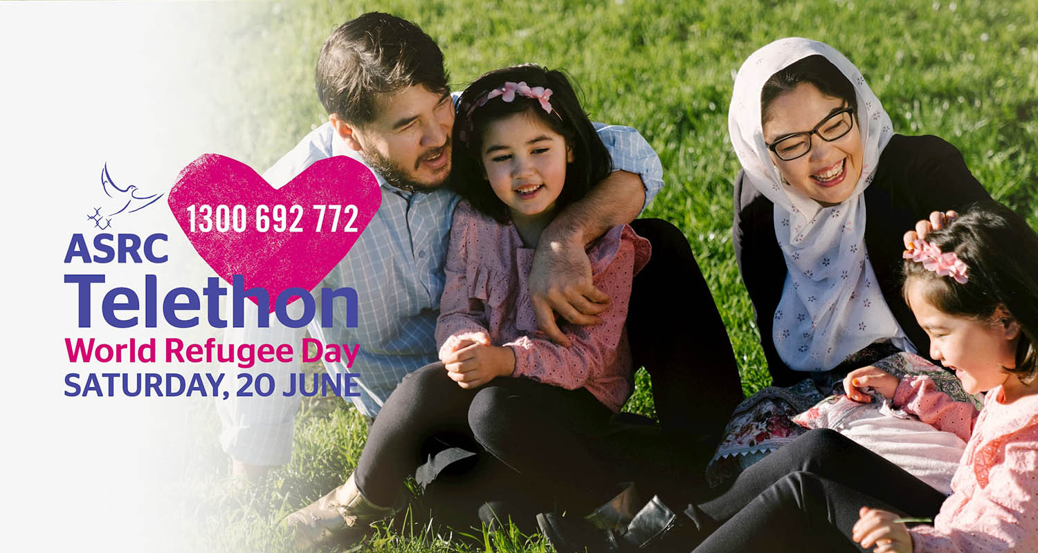 Stand with refugees and stand for welcome at the ASRC Telethon on World Refugee Day