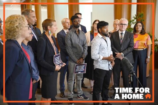 Petition calling for release and resettlement of refugees with 36,923 signatures handed to MPs at Parliament House today